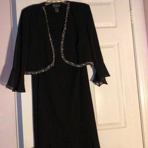 Black Dress with matching Jacket